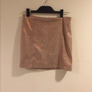 NWT Free People Modern Femme Metallic Skirt